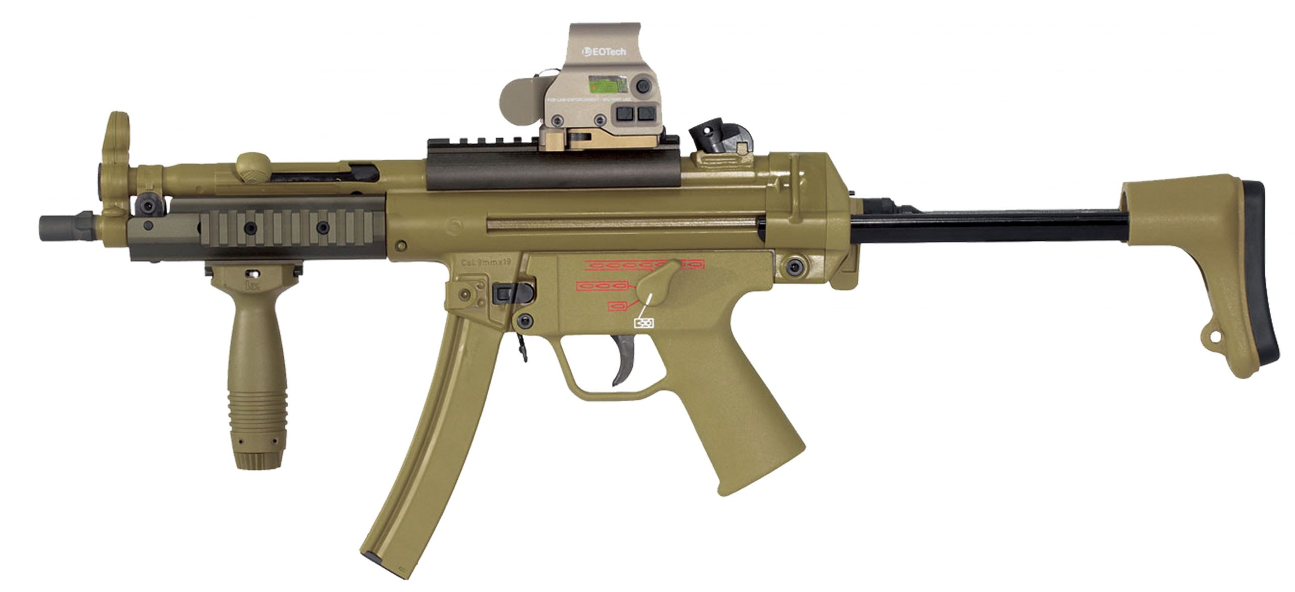 THOR TP5 Full Size MP5 Clone 9MM W/ A3 Stock & Tactical Rails FDE